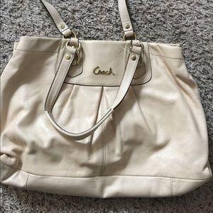 COACH Handbag Cream colored Satchel